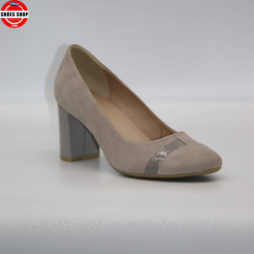 Жіночі туфлі Marco (Польща) сірого кольору. Дуже красиві та комфортні. Стиль: Хіларі Роду