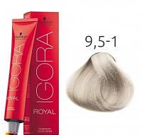 Краска для волос Schwarzkopf Professional Igora Royal 60 мл 9,5-1 Светлый блондин сандрэ