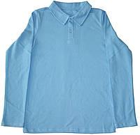 Голубая рубашка поло для мальчика, рост 158 см, 164 см, Robinzone