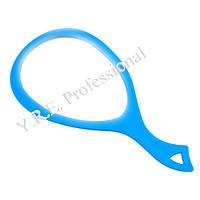 Зеркало для клиента с ручкой (капля/синий)