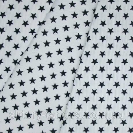 Декор звезды черные фон белый