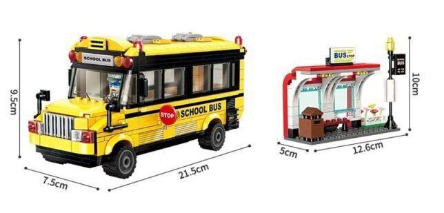 Конструктор BRICK Игрушка автобус (1136)