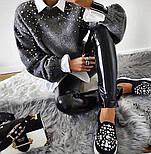Женский вязаный свитер с жемчугом vN2178, фото 3