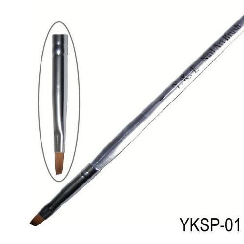 Кисть косая прозрачная ручка YKSP-01