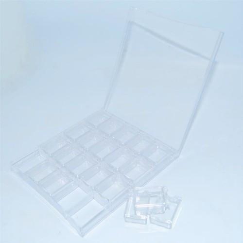 Контейнер 20 секций для страз прозрачный