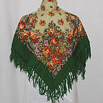 """Платок шерстяной с с шерстяной бахромой """"Южанка"""", 89x89 см рис. 1387-9, фото 3"""