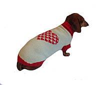 Свитер Сердце для собаки,свитер для таксы,свитер для собаки,теплая одежда для собаки