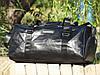 Дорожная сумка из искусственной кожи, среднего размера 50х23х25 см, плечевой ремень, фото 4