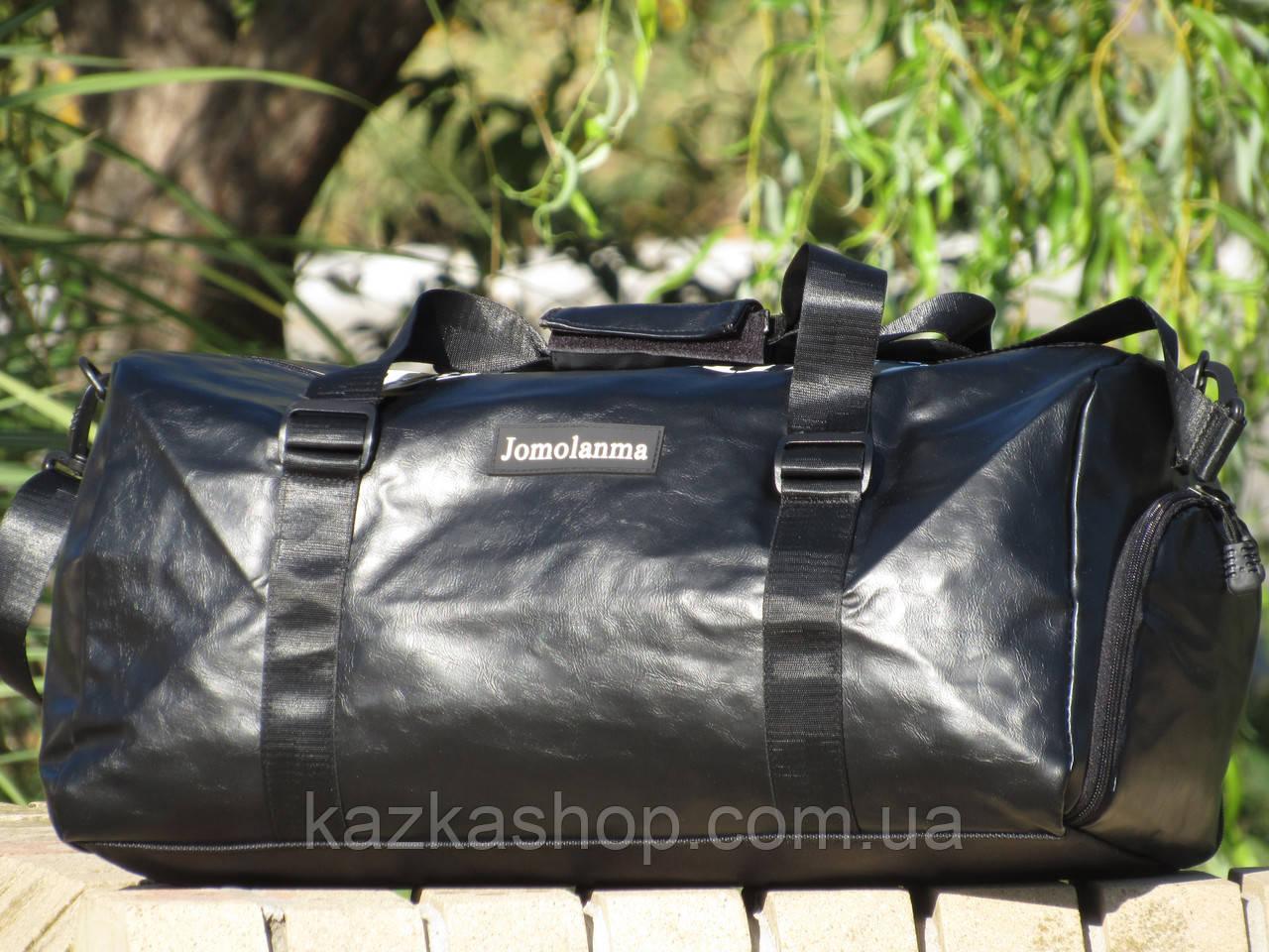 Дорожная сумка из искусственной кожи, среднего размера 50х23х25 см, плечевой ремень