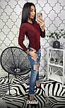 Женское боди с длинным рукавом из люрекса vN2231, фото 2