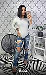 Женское боди с длинным рукавом из люрекса vN2231, фото 3