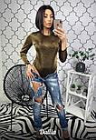 Женское боди с длинным рукавом из люрекса vN2231, фото 4