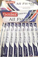 """Ампула (Стержень) гель """"Glow Gel Metalic 894"""", 0.6mm СЕРЕБРО Goldex Индия  уп10 бл100"""