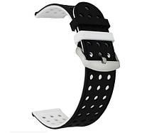Двухсторонний ремешок с перфорацией для часов Huawei Watch GT / GT Active 46mm - Black&White