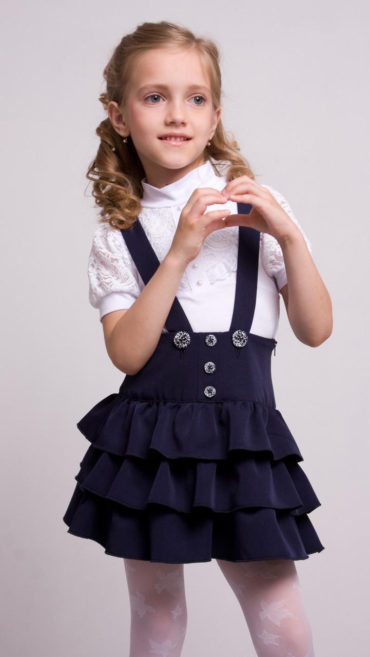 """Школьный сарафан для девочек """"Бетти"""" синий"""