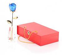 Роза высокая из стекла Swarovski Crystle Rose