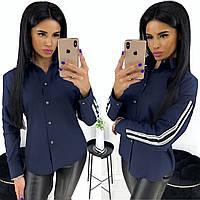 Женская рубашка с лампасами / хлопок / Украина 24-1170