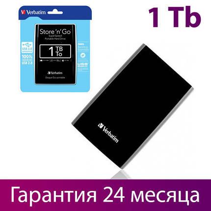 """Зовнішній жорсткий диск 1 Тб/Tb Verbatim Store""""n""""Go, USB 3.0, 5400 rpm (53023), портативний вінчестер 2.5"""", фото 2"""