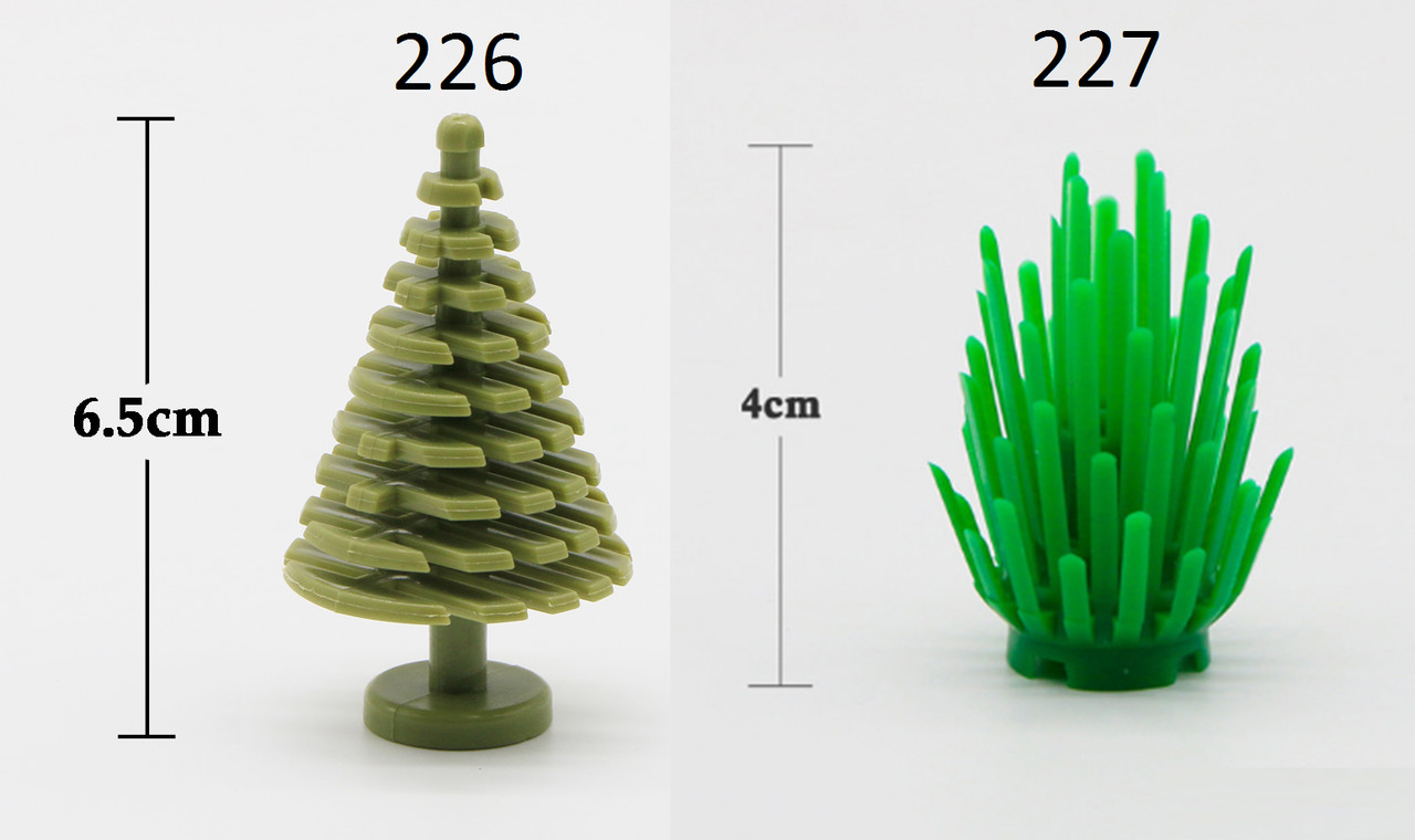Елка трава куст для фигурок Lego Лего