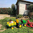 Трактор электромобиль с прицепом  Peg-Perego John Deere Ground Force, фото 10