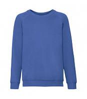 Детский свитер премиум однотонный синий 033-51