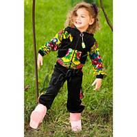 Детский  велюровый костюм в стиле Матрешка