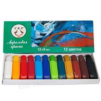 Краска акриловая 6мл 12 цветов (набор)