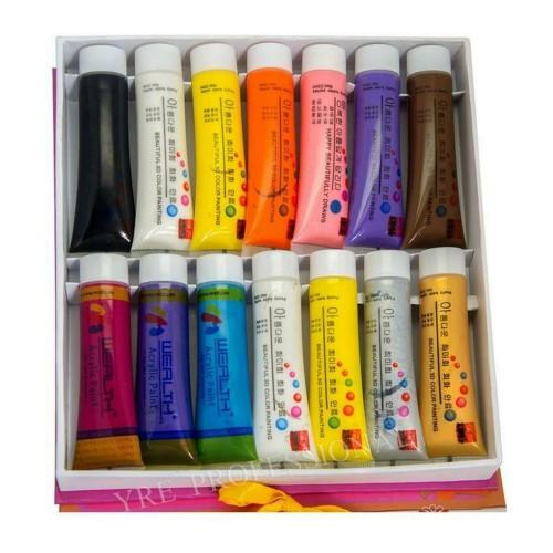 Краска акриловая 22мл 14 цветов (набор)