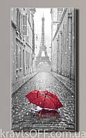 """Картина на холсте """" Красный зонтик в Париже '' ( 54х28.5 см )"""
