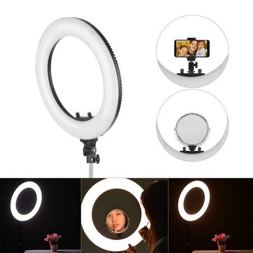 Лампа для макияжа кольцевая R-40B (штатив в наборе)