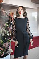 Платье / креп костюмный, сетка / Украина 45-5110-2, фото 1