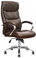 Офисное кресло для персонала Eternity brown, Anyfix с регулировкой качания под вес Бесплатная доставка