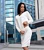 Костюм юбка карандаш и кофта вязка шерсть 50%, белый