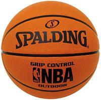 Мяч баскетбольный Spalding Grip Control Outdoor, размер 7, резина, для игры на улице, коричневый, фото 1