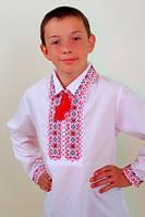 """Вышиванка для мальчика """"Остап"""" красная с черным 164"""