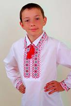 """Вышиванка для мальчика """"Остап"""" красная с черным 140-170"""