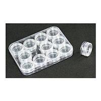 Набор баночек прозрачных в контейнере 2г 12шт
