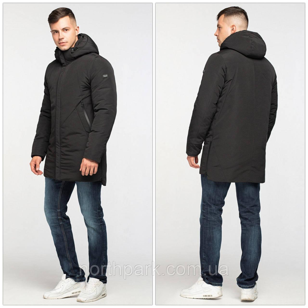 Подовжена зимова чоловіча куртка-парка KTL, чорна
