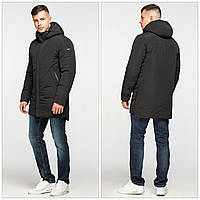 Подовжена зимова чоловіча куртка-парка KTL, чорна, фото 1