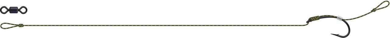 Карповый поводок DAM Tactix Anti-Snag Rig 25lb длина 16см крючок №4