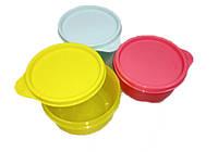 Набор фирменных судочков - мисочек для еды 3 штуки по 200 мл, для школьников и подростков, Tupperware