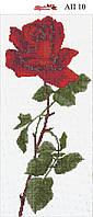 Алмазная вышивка АП 010 Роза (частичная зашивка)