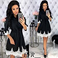 Платье / костюмная ткань, кружево / Украина 50-432, фото 1