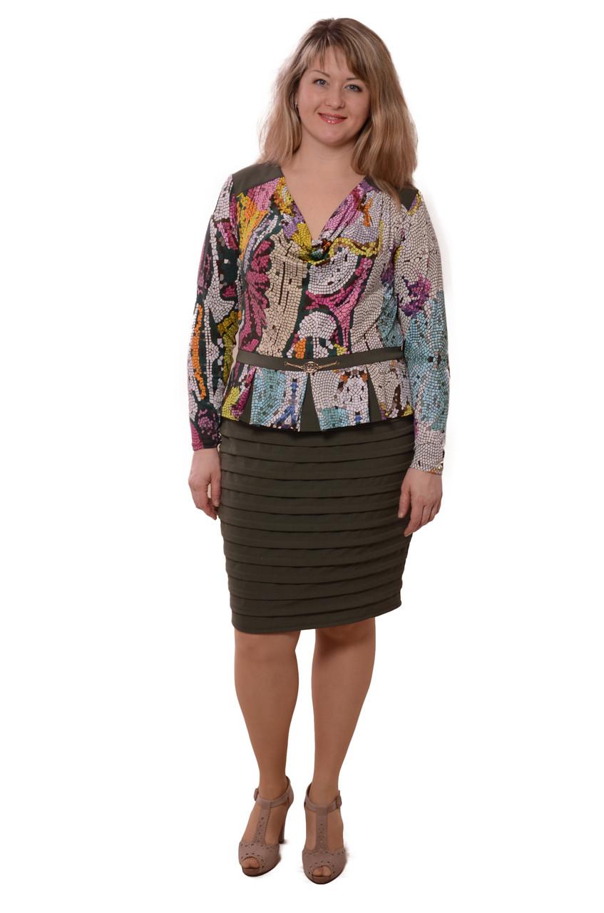 Нарядные платья  , Мозаика ,трикотажное, стрейч , 48-56.