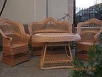 """Комплект плетеной мебели, столик """"Грибком"""""""