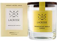 Свеча ароматическая в стекле Мадагаскарская ваниль, желтый