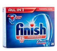 Finish Calgonit Powerball All in 1 таблетки для посудомоечной машины 28 шт
