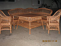 """Набор плетенной мебели """"Кухонный с уголком"""""""