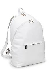 Женский рюкзак белый кожаный (20-091)