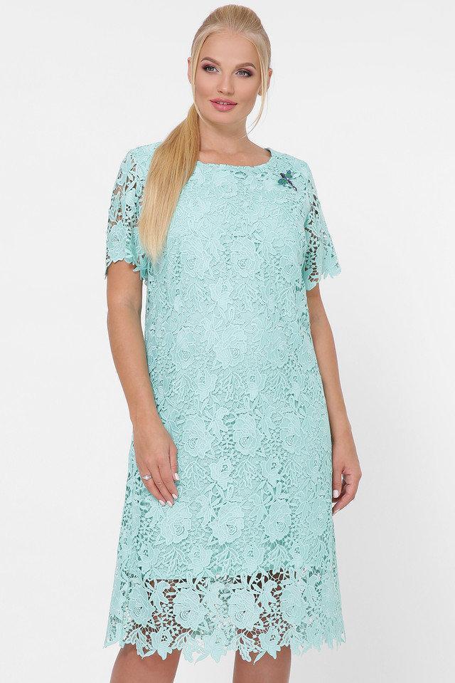 Праздничное женское платье из ирландского кружева больших размеров 52-58